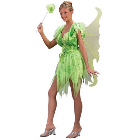 Neverland Fairy Adult Halloween Costume](Adult Green Fairy Costume)