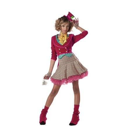 The Mad Hatter Girls' Teen Halloween Costume (Girl Mad Hatter Costumes)