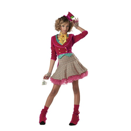The Mad Hatter Girls' Teen Halloween Costume (Mad Hatter Price Tag)