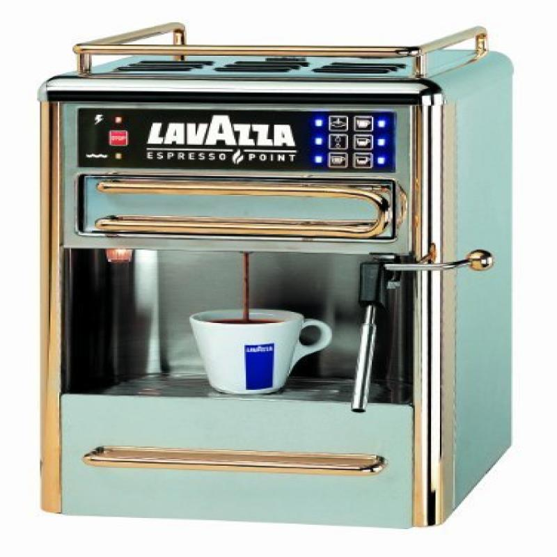 Lavazza One Cup Espresso Beverage System Chrome/Gold Stainless Steel 80114