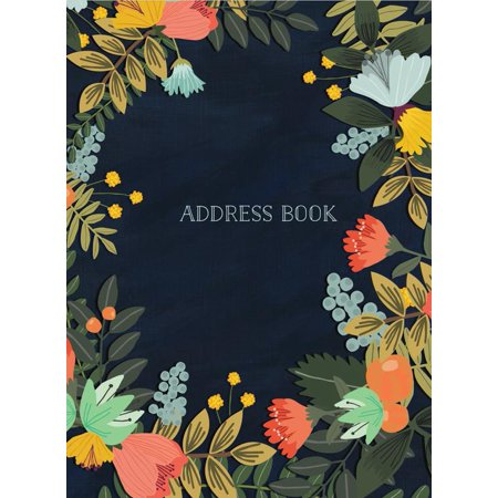Address Form (Modern Floral Large Address Book )