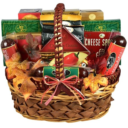 - A Cut Above, Fall Cheese and Sausage Gift Basket Loaded With Flavors of the Season (Medium, 7 pound) thumbnail