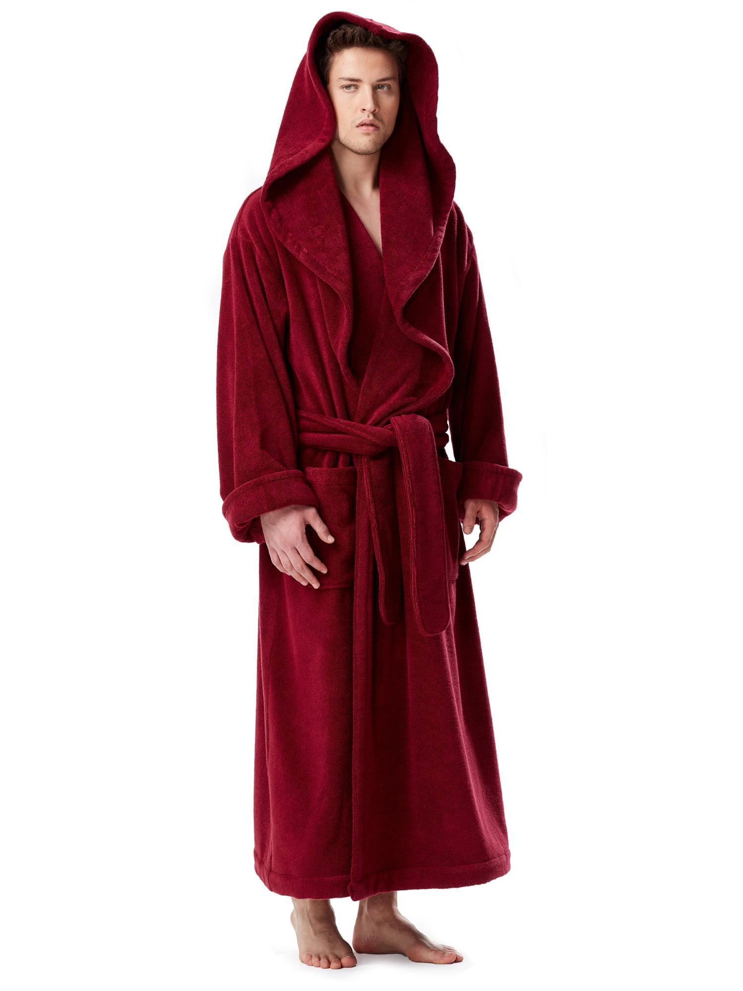 674a4c68f9 Arus - Men s Luxury Medieval Monk Robe Style Full Length Hooded Turkish Terry  Cloth Bathrobe - Walmart.com