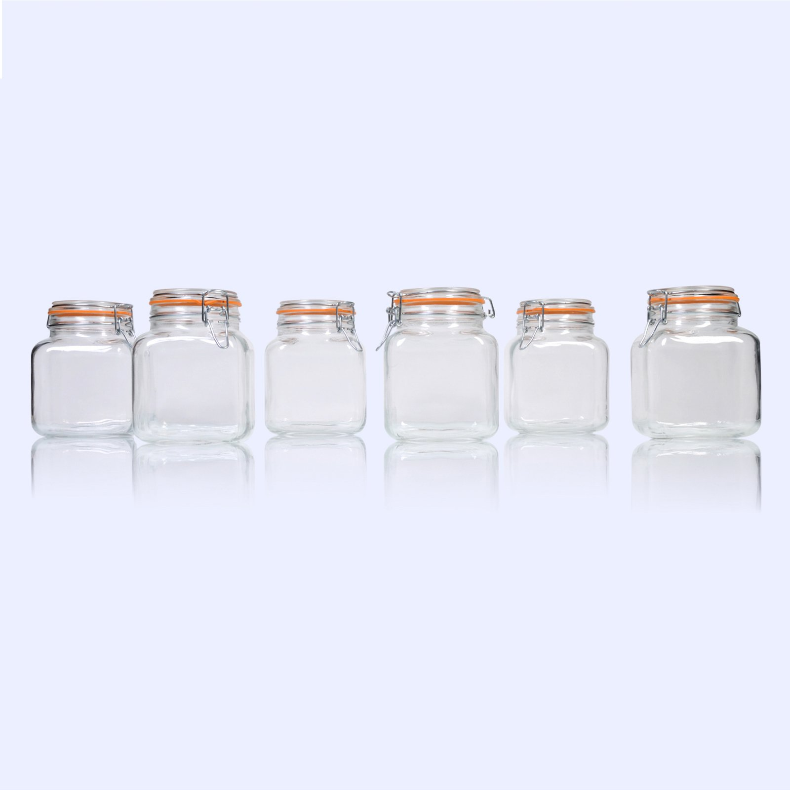 Global Amici Borgonovo Hermetic Jar - Set of 6