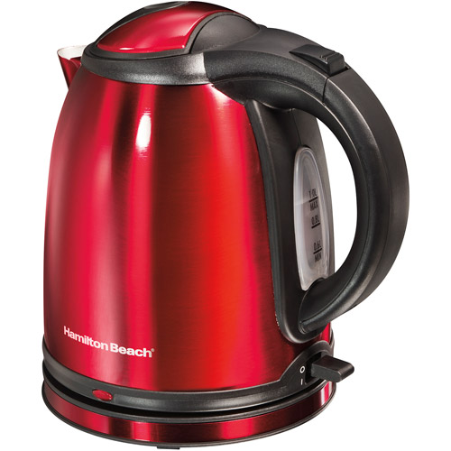 Hamilton Beach 1-Liter Electric Kettle, Red