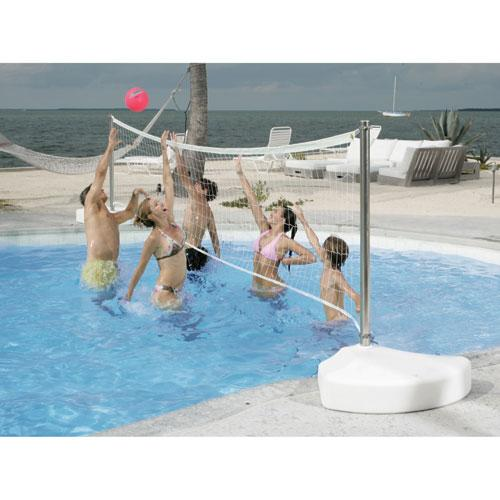 Dunnrite Stainless Steel WaterVolly Portable Swimming Pool Volleyball Set