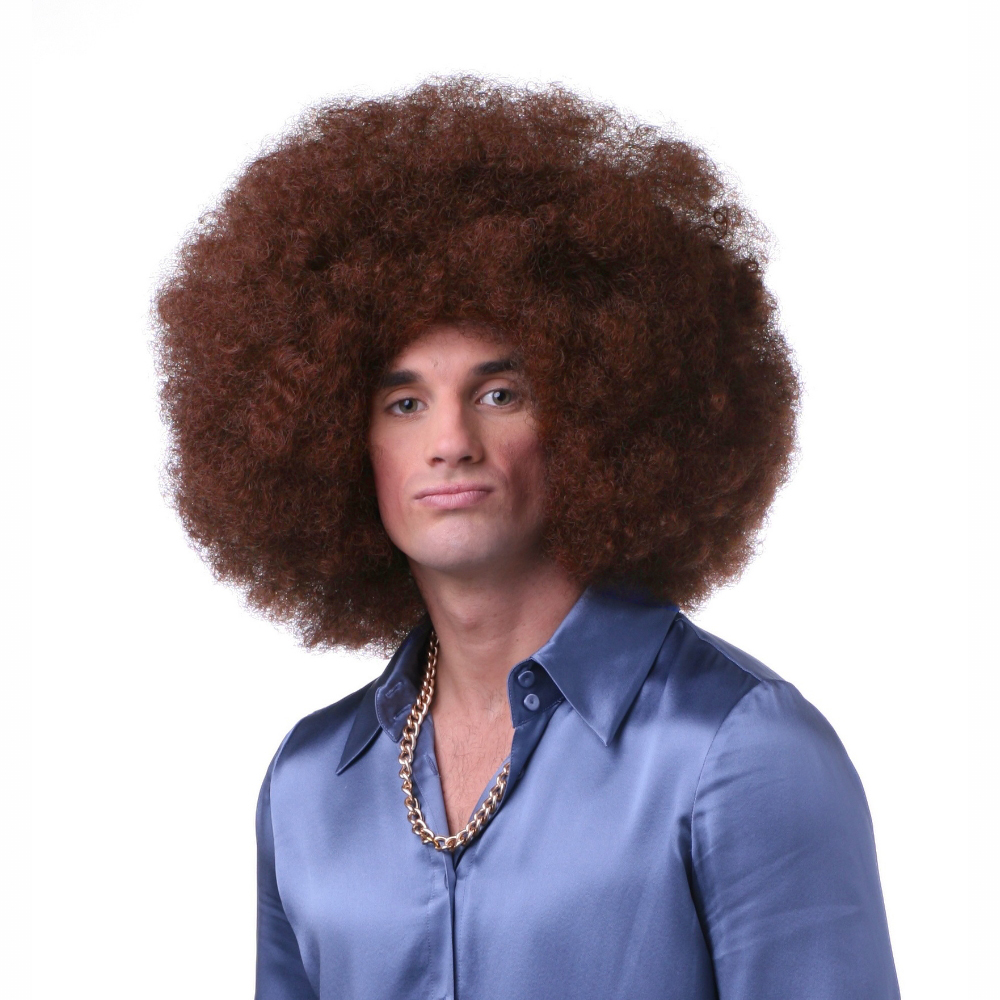 Sepia Costume Color Afro Synthetic Wig - Auburn - image 1 of 1