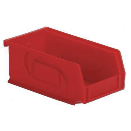 Lewisbins 25 lb Capacity, Hang and Stack Bin, Red PB74-3 (Office Stack)