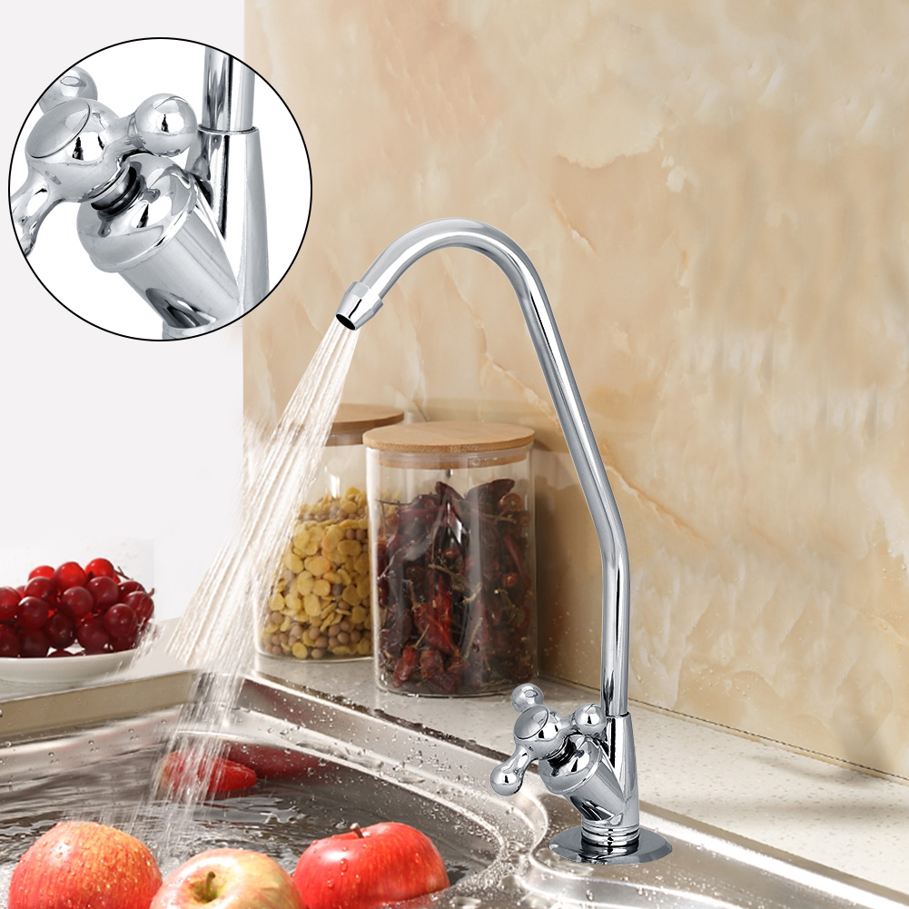 1/4'' Zinc Alloy Kitchen Faucet Tap Chrome Reverse Osmosis RO Drinking Water Filter, Drinking Water Filter, Water Filter