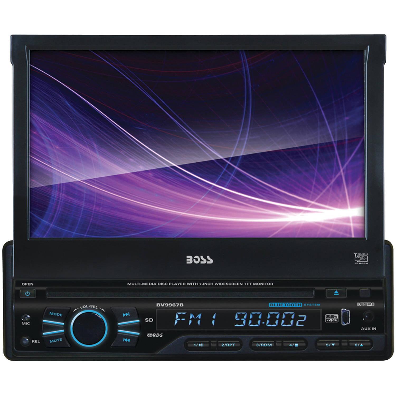 """Boss Audio BVB9967RC Single-DIN DVD Player 7"""" Motorized Touchscreen Detach Panel Bluetooth"""