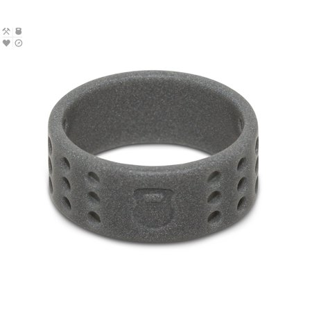 Qalo Mens Perforated Silicone Ring with Carrying Case - Smoke Gray ()