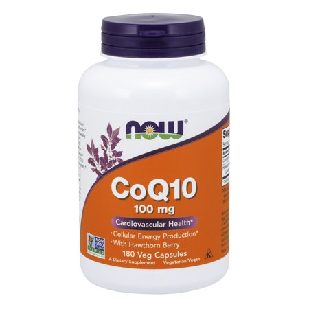 Pro Health Pharmacy (NOW Supplements, CoQ10 100 mg with Hawthorn Berry, Pharmaceutical Grade, All-Trans Form produced by Fermentation, 180 Veg Capsules)