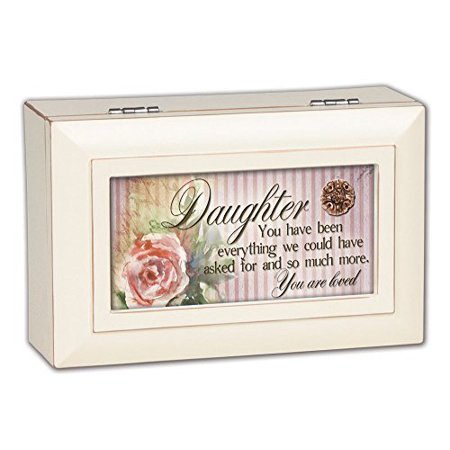 Daughter You Are Loved Ivory Jewelry Music Box Plays Tune You Are My Sunshine