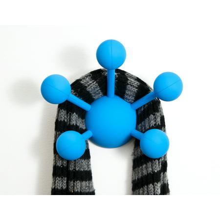 Modern Littles Atom Multi-Purpose Coat Hook, Solid Blue