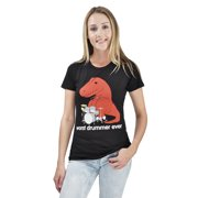 Goodie Two Sleeves Juniors Worst Drummer Ever Dino T-Shirt