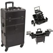 Sunrise I3564CRAB Black Croc Trolley Makeup Case - I3564