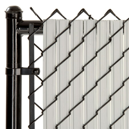 Maximum Privacy Gray SoliTube Slats™ for 4ft Chain Link Fence (Vinyl Fence Slats)