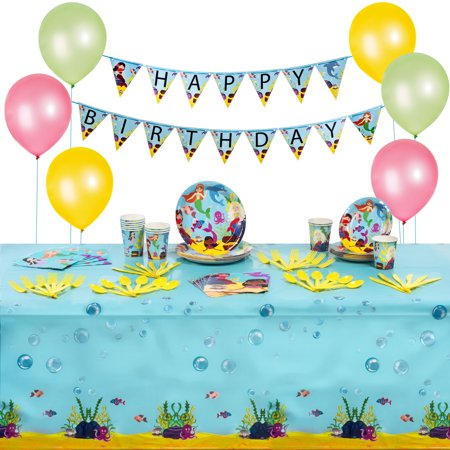 Ariel Mermaid Party Decorations (Five Enchanted Mermaid Party Supplies and Decorations Kit For)