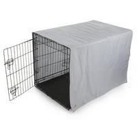 TrustyPup Cozy Cove Medium Crate Cover, Gray