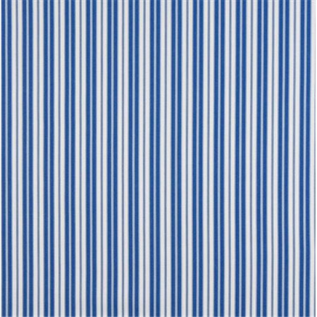 Designer Fabrics B461 54 in. Wide Blue, Ticking Striped Indoor & Outdoor Marine Scotchgard Acrylic Upholstery Fabric - Outdoor Acrylic Fabric