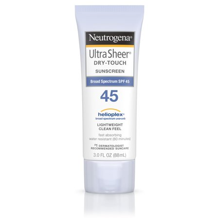Neutrogena Ultra Sheer Dry-Touch Water Resistant Sunscreen SPF 45, 3 fl. (Best Sun Creams For Protection)