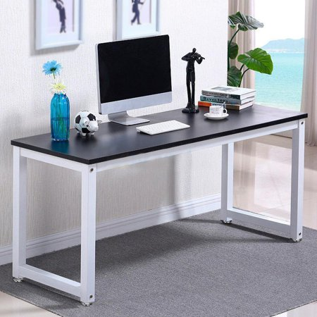 Ktaxon Wood Computer Desk Pc Laptop Study Table Workstation Home Office Furniture Black