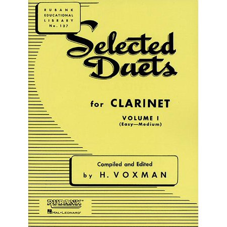 Selected Duets for Clarinet : Volume 1 - Easy to Medium Flute Clarinet Duets