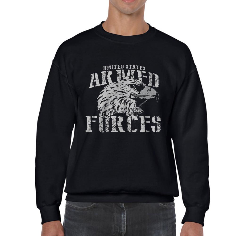 promo code f0f0c 0c9aa Tee Bangers - Armed Forces Eagle Men's Black Sweatshirt ...