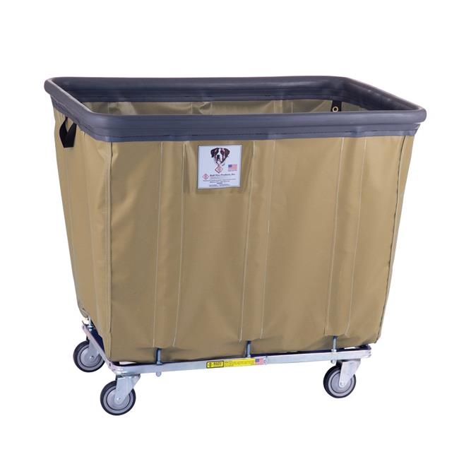 R&B Wire Products 408SOBC-BG 8 Bushel Vinyl Bumper Truck All Swivel Casters, Beige - 36.5 x 25 x 30.5 in.