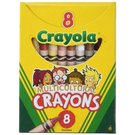Crayola Multicultural Crayons, Assorted Specialty Colors, Box Of -