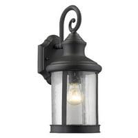 "CHLOE Lighting GALAHAD Transitional 1 Light Black Outdoor Wall Sconce 16"" Height"