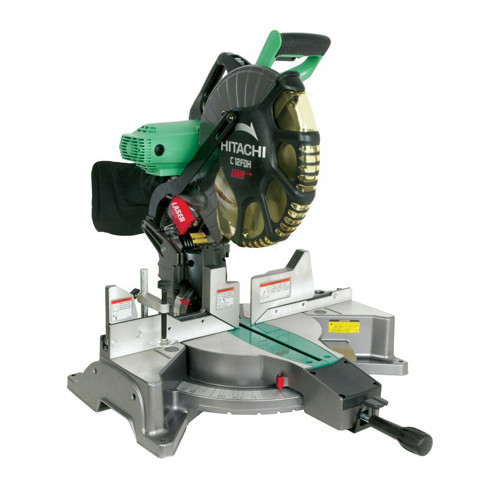 "Hitachi 12"" 15 Amp Dual Bevel Compound Miter Saw With Laser Marker"