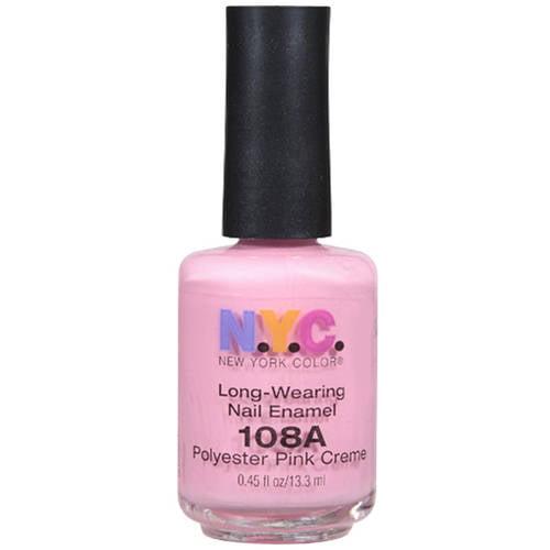 N.Y.C. New York Color Long-Wearing Nail Enamel, Polyester Pink Creme