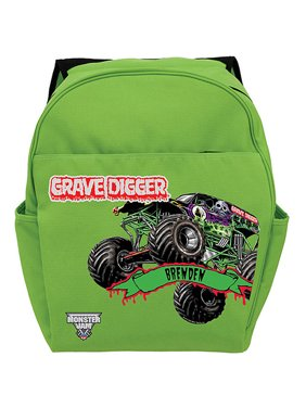 Personalized Monster Jam Grave Digger Green Backpack