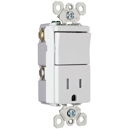 Legrand TradeMaster 15A 120/125V Decorator One Single Pole Switch and One Single Outlet in Brown