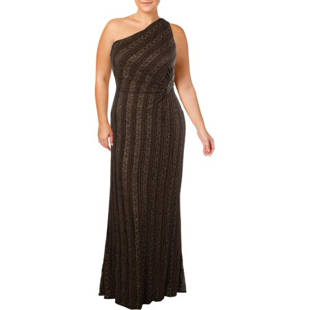 David Meister Womens Lace Metallic Evening Dress](David Dress)