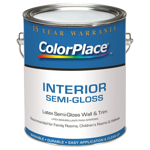 ColorPlace Interior Semi-Gloss Medium Base Paint, 1 gal