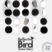 Aspectek Bird Repellent Disks - Reflective Discs Make Attractive Hanging Reflectors For Windows & Trees - 10 Pack Set