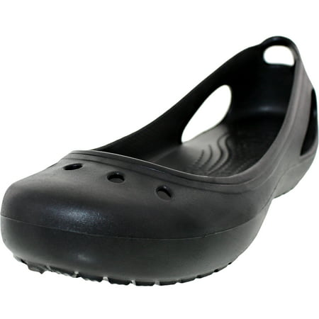 Crocs Women's Kadee Black/Black Ankle-High Rubber Ballet Flat - 6M