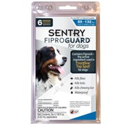 Sentry FiproGuard Dog Flea & Tick Topical 89-132 Pound, 6 Monthly Treatments