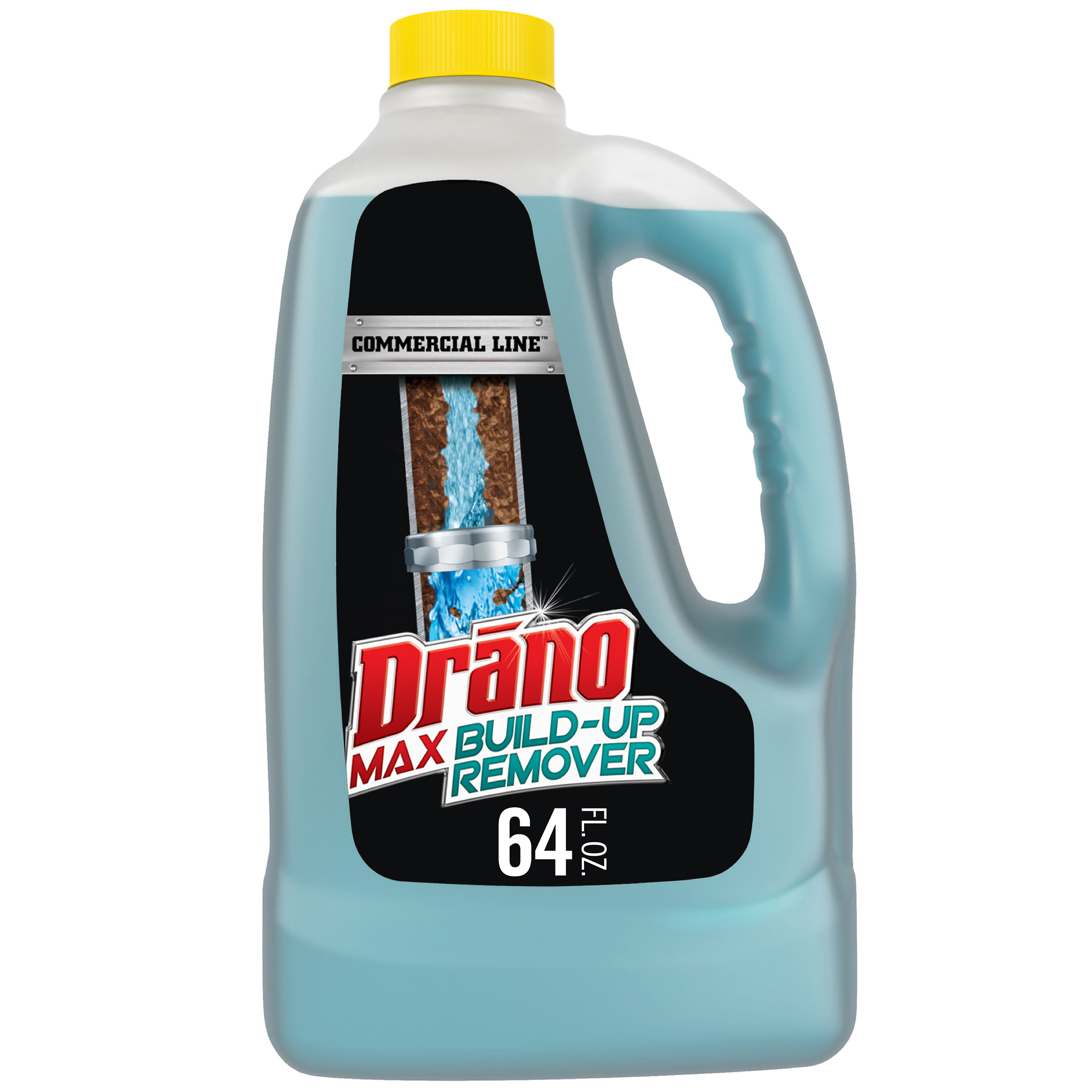 Drano Max Build-Up Remover, Commercial Line, 64 fl oz