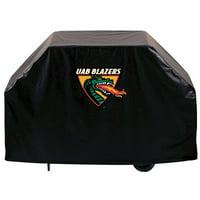 Alabama Birmingham Grill Cover w/ Blazers Logo on Black - 72 Inch