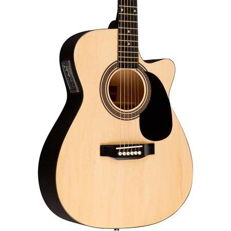 (Rogue RA-090 Concert Cutaway Acoustic-Electric Guitar Natural)