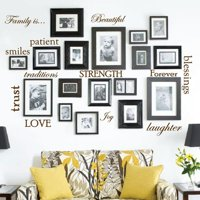 Innovative Stencils 12 Family Quote Words Vinyl Wall Decal
