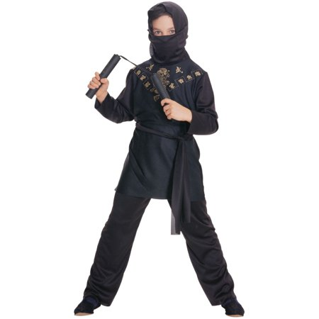Deluxe Child Boys Sneaky Black Ninja Costume - Black And White Movie Character Costume