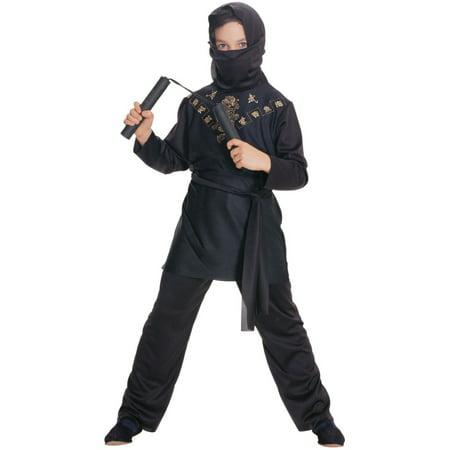 Deluxe Child Boys Sneaky Black Ninja Costume - White Ninja Costume Kids