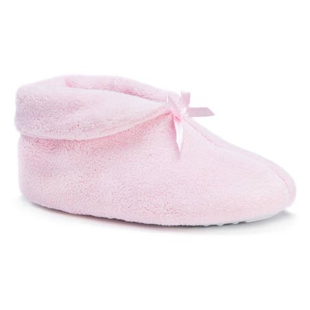 MUK LUKS Micro Chenille Scuff with Satin Trim Slippers by