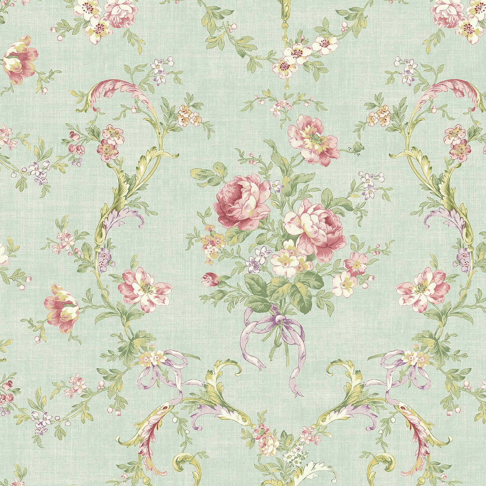 Fairwinds Studios Delicate Floral Bouquet Wallpaper Walmart Com