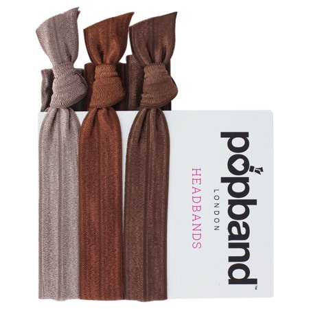 Headbands - Brown by Popband for Women - 3 Pc Headband - image 1 of 1