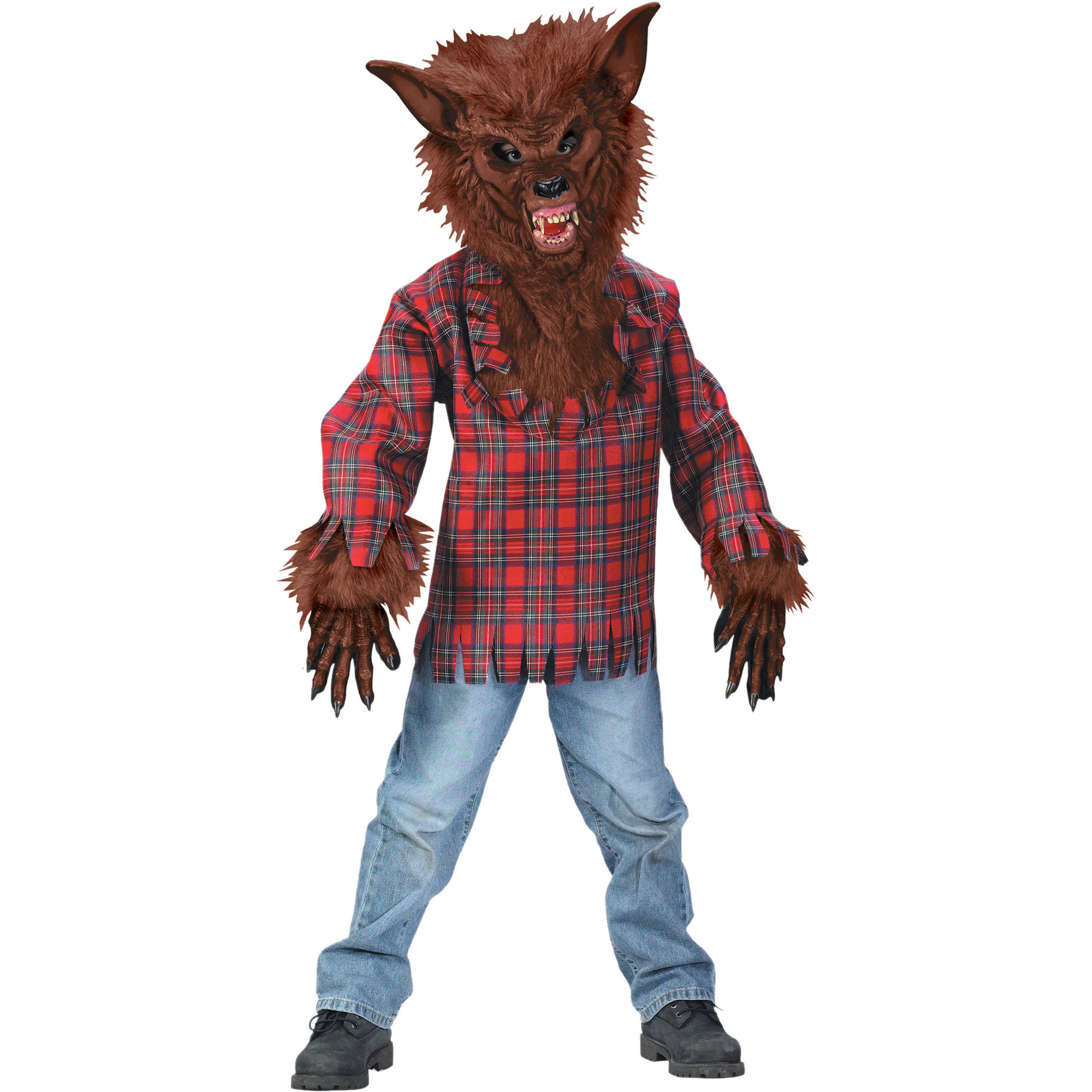 fun world werewolf boys halloween dress up role play costume l walmartcom - Wolf Halloween Costume Kids